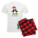 Cute Christmas Penguin Is it Men's Light Pajamas