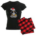 Cute Christmas Penguin Is it Women's Dark Pajamas
