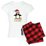 Cute Christmas Penguin Is i Women's Light Pajamas