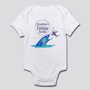 Grandma's Fishing Buddy Infant Bodysuit