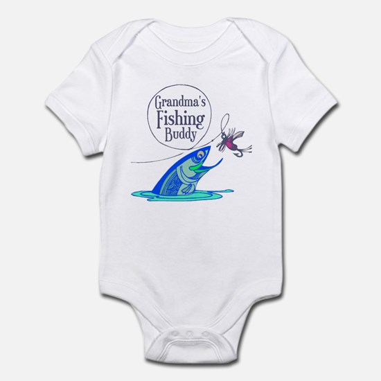 Grandma's Fishing Buddy Infant Bodysuit
