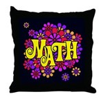 Mathadelic Lipstick Throw Pillow