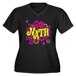 Mathadelic Lipstick Women's Plus Size V-Neck Dark