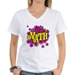 Mathadelic Lipstick Women's V-Neck T-Shirt