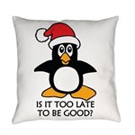 Cute Christmas Penguin Is it too l Everyday Pillow