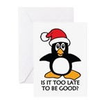 Cute Christmas Penguin I Greeting Cards (Pk of 10)