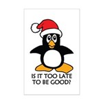Cute Christmas Penguin Is it too Mini Poster Print
