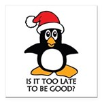Cute Christmas Penguin I Square Car Magnet 3