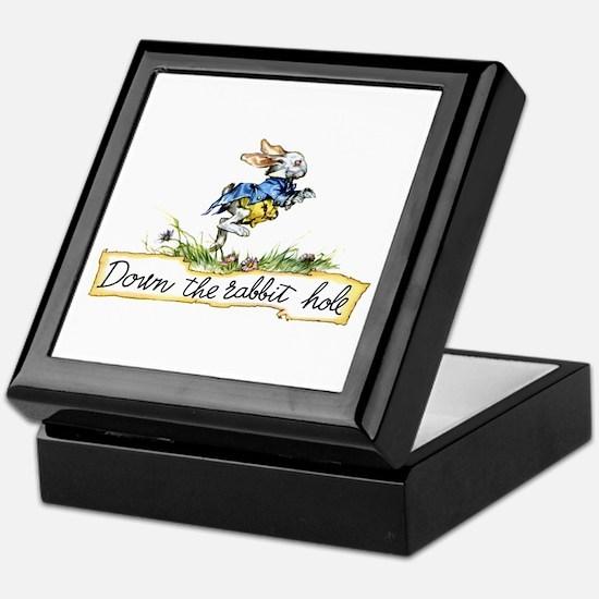 DOWN THE RABBIT HOLE Keepsake Box