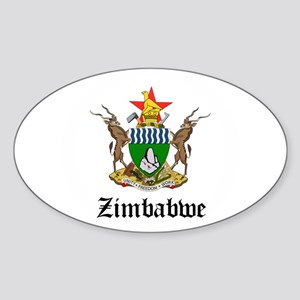 Zimbabwean Coat of Arms Seal Oval Sticker