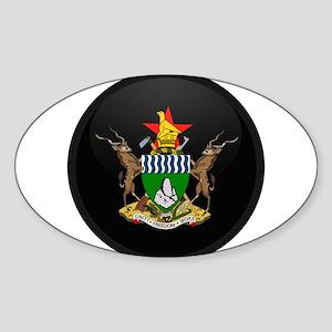 Coat of Arms of Zimbabwe Oval Sticker