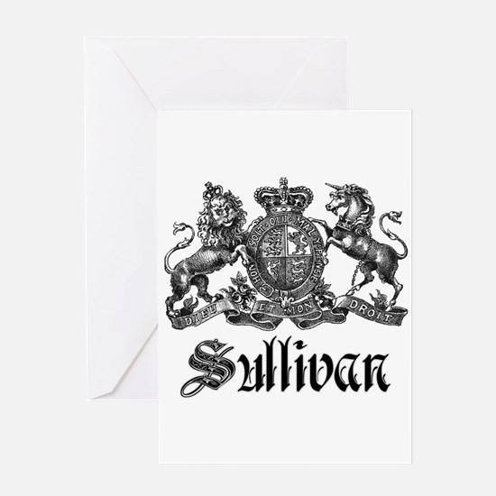 Sullivan Vintage Family Crest Greeting Card