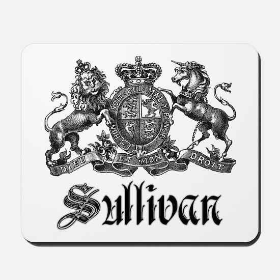 Sullivan Vintage Family Crest Mousepad