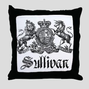 Sullivan Vintage Family Crest Throw Pillow