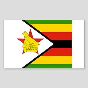 Zimbabwean Rectangle Sticker