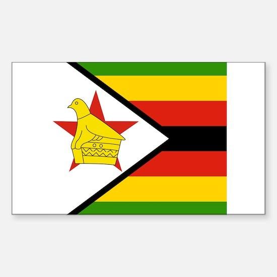 Zimbabwean Rectangle Decal