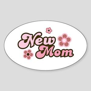 New Mom Oval Sticker