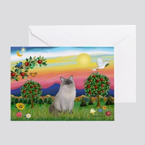 Bright Country / Ragdoll Greeting Card