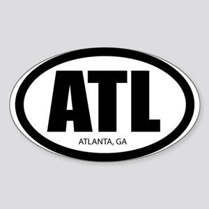 """""""The ATL"""" Oval Sticker"""