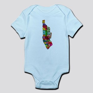 NYC Color Coded Map Infant Bodysuit