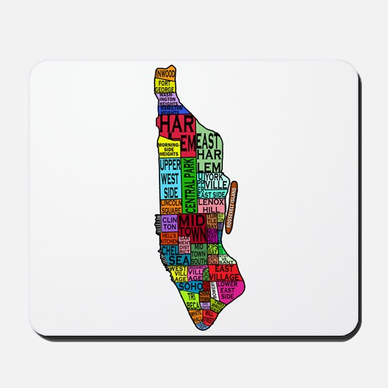 NYC Color Coded Map Mousepad