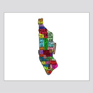 NYC Color Coded Map Small Poster