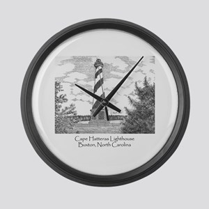 Cape Hatteras Lighthouse Large Wall Clock