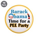 """Pee Party 3.5"""" Button (10 pack)"""