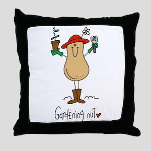 Gardening Nut Throw Pillow