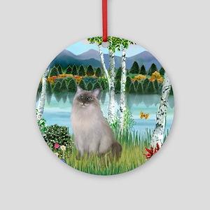 Birches / Ragdoll Ornament (Round)