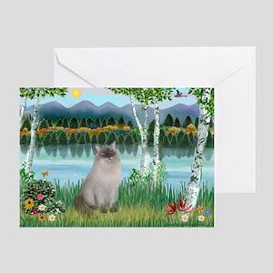 Birches / Ragdoll Greeting Card