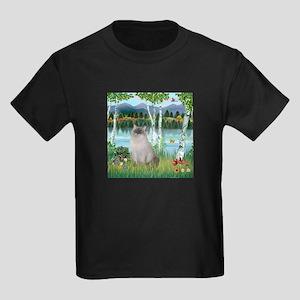 Birches / Ragdoll Kids Dark T-Shirt