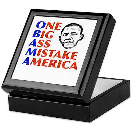 Obama: One Big Ass Mistake America Keepsake Box