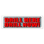 Drill Here Bumper Sticker (50 pk)
