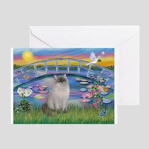 Lilies / Ragdoll Greeting Card