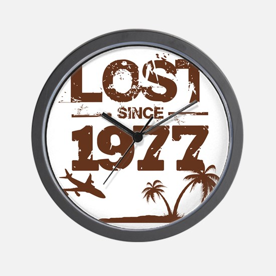 Lost with Sawyer since 1977 Wall Clock
