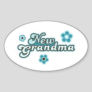 New Grandma Oval Sticker
