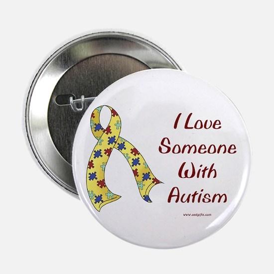 """Autism Love 2.25"""" Button"""