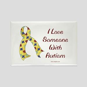 Autism Love Rectangle Magnet