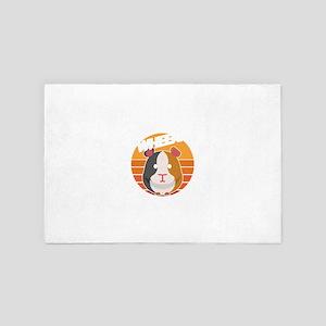 Wheek Wheek Feed Me Human Guinea Pig D 4' x 6' Rug