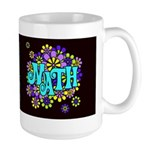 Mathadelic Surf Dark Large Mug