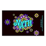 Mathadelic Surf Rectangle Sticker 10 pk)