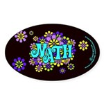 Mathadelic Surf Oval Sticker (50 pk)