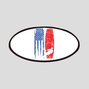 United States Of America Flag American Ski W Patch