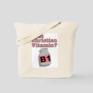"""""""3-D Christian Vitamins"""" Tote Bag!"""