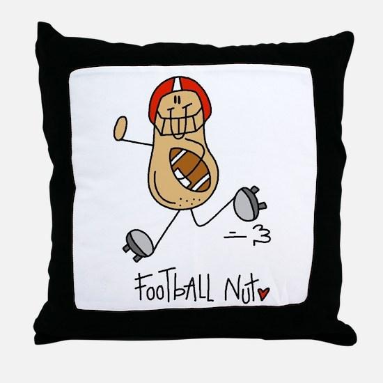 Football Nut Throw Pillow