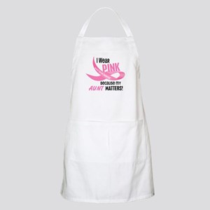 I Wear Pink For My Aunt 33.2 BBQ Apron