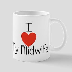 I heart my midwife Mug