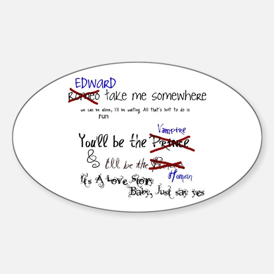 Love Story Oval Decal