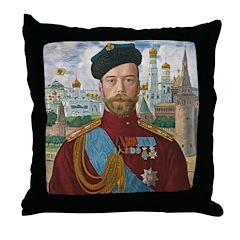 Tsar Nicholas II Throw Pillow